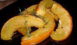 Dýně pečená s česnekem a tymiánem
