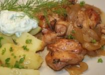 Kuřecí s Vegemite na cibuli a česneku