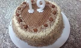 Ořechový dort podle Monči