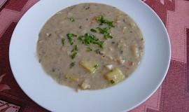 Chlebová polévka se zeleninou a bramborem