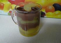 Čokoládový puding s dušenými jablky