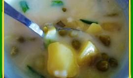 Fazolkovo-hrášková polévečka