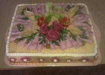 Slaný dort se sýrem, uzeninou a zeleninou
