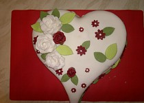 Valentýnský dort pro manžela