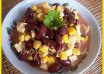 Fazolový salát s kukuřicí