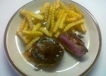 Hovězí biftek se slaninou