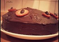Jemný čokoládový dort