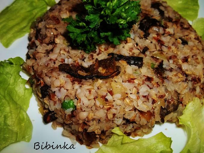 Krupkové rizoto s houbami shitake, Krupkavé rizoto s houbami shitake