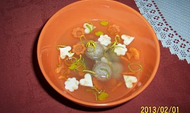 Polévkové knedlíčky z drůbežích žaludků