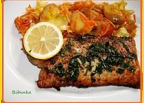 Smažený rybí filet s bylinkovým osvěžením