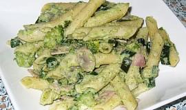 Špagety s brokolicovým krémem
