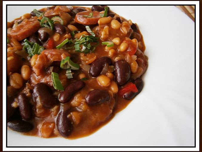 Ajveniny mexické fazole, detail hotového pokrmu