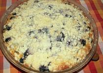Borůvkový drobenkový koláč-šup-šup
