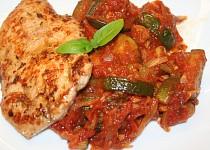 Kuře s letní zeleninou
