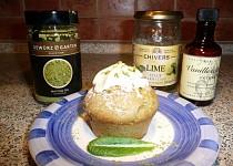 Muffiny se zeleným čajem a limetkou