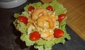 Salát s uzenými krevetami