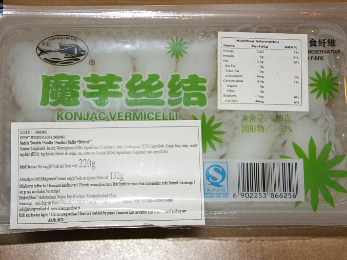 Balení nudli shirataki - 2 porce