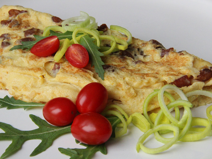 Škvarková omeleta