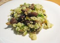 Hlíva ústřičná s kuskusem a brokolicí