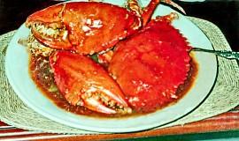 Krabi na způsob Padang kuchyně - kepiting Padang