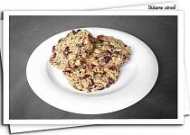 Müsli sušenky s brusinkami
