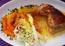 Pečené kuře s mrkvičkou