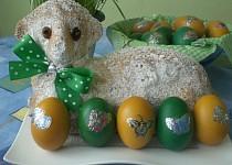 Velikonoční mramorový beránek (bábovka)
