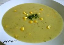 Bramborová krémová polévka s kukuřicí