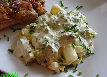 Chřestový salát s vejci