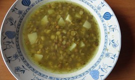 Čočkovo - hrachová polévka s vůní česneku