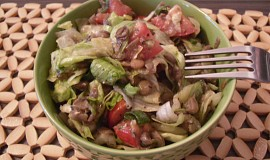 Čočkový salát se zeleninou - studený i teplý