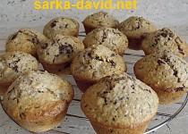Hruškové muffiny s čokoládou