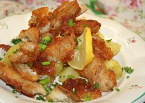 Křupavé kousky rybího filé v tempura těstíčku