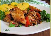 Kuřecí kousky se směsí z restované zeleniny