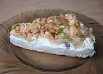 Lehký tvarohový koláč s jablky a skořicí