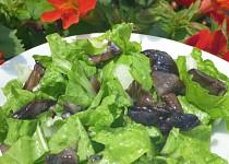 Salát z mangoldu a hub