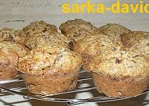 Špaldové čokobanánové muffiny