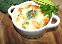 Zapékané mističky s lososem a brokolicí