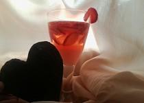 Čerstvý jahodový nápoj tzv.jahoďáček
