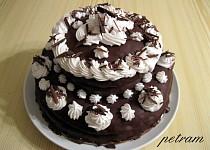 Dvoupatrový dort bez lepku, mléka a vajec