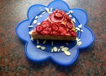 Lehký tvarohový koláč s jahodami