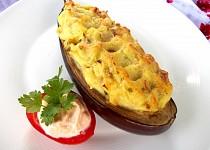 Lilek zapečený s bramborovou kaší