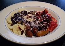 Ovoce v čokoládě ala fondue - vegan
