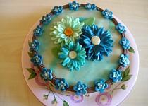 Piškotový dort s čokoládovým krémem