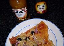 "Pizza s olivami, rajským a ""sýrem"" - vegan"