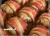 Plněné žampiony ve slanině