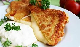 Smažený sýr se šunkou