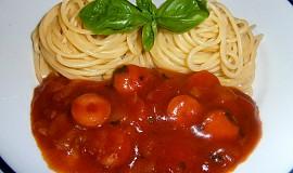 Špagety s kečupovou omáčkou