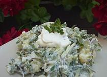 Bramborový salát se šruchou a fazolkami