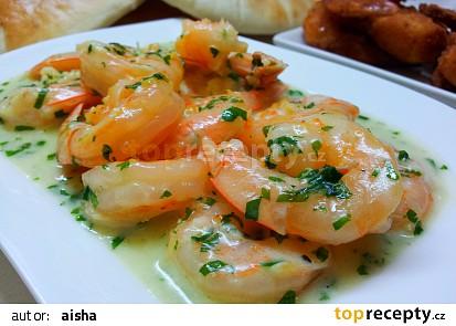 Krevety v máslové smetaně